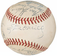 1946 American League All-Star Team Signed Baseball from The Enos Slaughter Collection