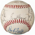 Autographs:Baseballs, Baseball Legends Multi-Signed Baseball (14 Signatures) fro...