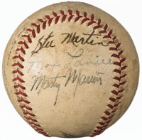 1940's Baseball Greats Multi-Signed Baseball from The Enos Slaughter Collection