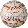 Baseball Collectibles:Balls, 1970-73 Baseball Greats Multi-Signed Baseball from The EnosSlaughter Collection. ...