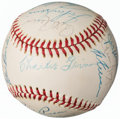 Baseball Collectibles:Balls, 1974-76 Baseball Greats Multi-Signed Baseball from The EnosSlaughter Collection. ...