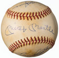 Baseball Collectibles:Balls, 1970's New York Yankees Greats Multi-Signed Baseball from The Enos Slaughter Collection. ...