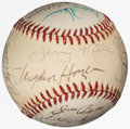 Autographs:Baseballs, Circa 1975 Hall of Famers & Others Multi-Signed Baseball from The Enos Slaughter Collection....