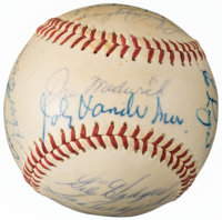 Circa 1965 Hall of Famers & Stars Multi-Signed Baseball from The Enos Slaughter Collection
