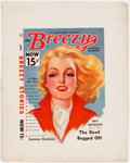 Memorabilia:Comic-Related, Enoch Bolles (attributed) Breezy Stories Cover Proof Set (Young Publ., 1939).... (Total: 2 Items)