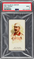 Baseball Cards:Singles (Pre-1930), 1888 N29 Allen & Ginter William Ewing PSA Mint 9 - Pop Two, None Higher. ...