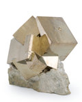 Minerals:Cabinet Specimens, Cubic Pyrite. Spain. 4.37 x 3.53 x 4.13 inches (11.10 x 8.96 x 10.50 cm). ...