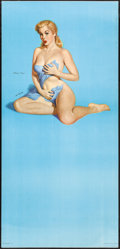"Movie Posters:Sexploitation, Modern Venus by Al Moore (1950s). Rolled, Fine/Very Fine. PinupCalendar Poster (22"" X 46.5""). Sexploitation.. ..."