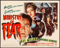 Movie Posters:Film Noir, Ministry of Fear (Paramount, 1944). Fine/Very Fine on Pape...