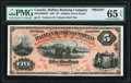 Canadian Currency, Halifax, NS- Halifax Banking Company $5 1.1.1887 Ch.# 335-22-02-04P Face Proof PMG Gem Uncirculated 65 EPQ.. ...