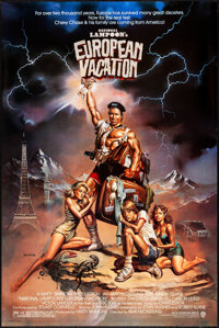 """National Lampoon's European Vacation & Other Lot (Warner Brothers, 1985). Rolled, Very Fine. One Sheets (2) (24""""..."""