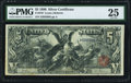 Large Size:Silver Certificates, Fr. 270 $5 1896 Silver Certificate PMG Very Fine 25.. ...
