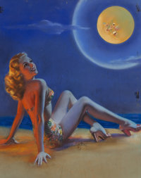 Zoe Mozert (American, 1904-1993) Moon Light Pastel on board 19.5 x 15.5 in. (sight) Signed low