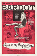 "Movie Posters:Sexploitation, Love is My Profession (Kingsley International, 1959). Folded, Fine/Very Fine. One Sheet (27"" X 41""). Sexploitation.. ..."