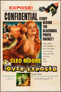 "Over-Exposed (Columbia, 1956). Folded, Fine/Very Fine. One Sheets (27"" X 41""). Bad Girl. ... (Total: 2 Items)"