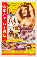 "Movie Posters:Exploitation, Wild for Kicks (Times Film, 1961). Folded, Fine/Very Fine. OneSheet (27"" X 41"") Alternate Title: Beat Girl. Exploitatio..."