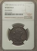 Large Cents, 1797 1C Rev of 1797, Stems -- Cleaned -- NGC Details. VF. NGC Census: (5/58). PCGS Population: (32/199). CDN: $1,200 Whsle....