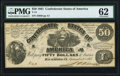 T14 $50 1861 PF-8 Cr. 77 PMG Uncirculated 62