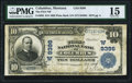National Bank Notes:Montana, Columbus, MT - $10 1902 Plain Back Fr. 626 The First NB Ch. # (W)9396 PMG Choice Fine 15.. ...