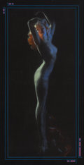 Mainstream Illustration, Rolf Armstrong (American, 1889-1960). Midnight Nymph. Pastel on black paper. 33.5 x 15.5 in.. Not signed. ...