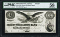 Obsoletes By State:Massachusetts, Quincy, MA- Mount Wollaston Bank $100 Aug. 8, 1853 as G16 Proof PMGChoice About Unc 58.. ...