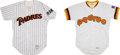 Baseball Collectibles:Uniforms, 1984-86 Eddie Miller & Gary Green Game Worn San Diego Padres Jerseys Lot of 2....