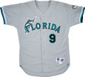 Baseball Collectibles:Uniforms, 1995-96 Terry Pendleton Florida Marlins Team Issued Jersey....