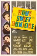 """Movie Posters:Comedy, Home Sweet Homicide (20th Century Fox, 1945). Folded, Fine/Very Fine. One Sheet (27"""" X 41""""). Comedy.. ..."""