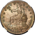 Trade Dollars, 1876 T$1 Type One Obverse, Type Two Reverse, MS64 NGC....