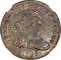 Early Dollars, 1798 $1 Large Eagle, Pointed 9, 10 Arrows, B-13, BB-108, R.2, AU53 NGC....