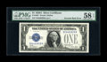 Error Notes:Inverted Reverses, Fr. 1601 $1 1928A Silver Certificate. PMG Choice About Unc 58 EPQ.....