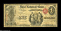 Lima, OH - $1 Original Fr. 382 The First NB Ch. # 2035 An attractive and nicely margined example which is the only ace...