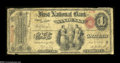 Sandusky, OH - $1 Original Fr. 380 The First NB Ch. # 16 One of the very scarcest of the first one hundred charters, wi...