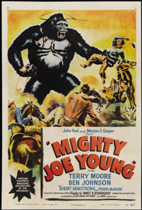 "Mighty Joe Young (RKO, 1949). One Sheet (27"" X 41""). Adventure"
