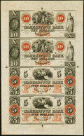 Obsoletes By State:Maryland, Hagerstown, MD- Hagerstown Bank $10-$10-$5-$5 18__ Uncut Sheet Choice Crisp Uncirculated.. ...