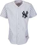 Baseball Collectibles:Uniforms, 2012 Mariano Rivera Game Worn & Signed New York Yankees Jersey--Photo Matched!...