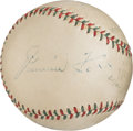 Baseball Collectibles:Balls, Circa 1935 Hall of Famers Multi-Signed Baseball with Foxx & Lazzeri. . ...