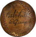 Baseball Collectibles:Balls, 1933 Babe Ruth & Lou Gehrig Signed Game Used Baseball....