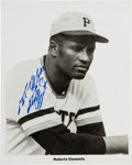 Baseball Collectibles:Others, Circa 1970 Roberto Clemente Signed Photograph, PSA/DNA Mint 9. ...