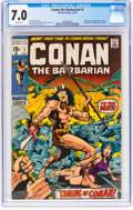 Bronze Age (1970-1979):Adventure, Conan the Barbarian #1 (Marvel, 1970) CGC FN/VF 7.0 White pages....
