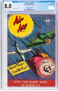 """Air Ace V3#4 Davis Crippen (""""D"""" Copy) Pedigree (Street & Smith, 1946) CGC VF 8.0 Off-white to white pages..."""