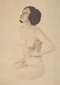 Mainstream Illustration, After Alberto Vargas (American, 1896-1982). Yearning, 1978. Offset lithograph in colors. 17 x 12 in. (image). Printed si...