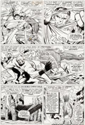 Original Comic Art:Panel Pages, Jack Kirby and Joe Sinnott Fantastic Four #46 Story Page 4 Original Art (Marvel, 1966)....