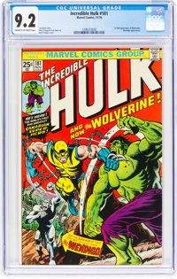 The Incredible Hulk #181 (Marvel, 1974) CGC NM- 9.2 Cream to off-white pages