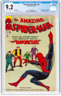 Silver Age (1956-1969):Superhero, The Amazing Spider-Man #10 (Marvel, 1964) CGC NM- 9.2 Off-white towhite pages....