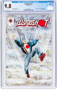 Bloodshot #6 (Valiant, 1993) CGC NM/MT 9.8 White pages