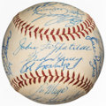 Baseball Collectibles:Balls, 1959 Milwaukee Braves Team Signed Baseball from The Enos Slaughter Collection. ...