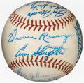 Baseball Collectibles:Balls, Circa 1960 Houston Buffaloes Team-Signed Baseball with Billy Williams from The Enos Slaughter Collection. ...