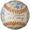 Autographs:Baseballs, 1959 Milwaukee Braves Team Signed Baseball from The Enos Slaughter Collection....