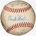 Baseball Collectibles:Balls, 1950 National League All-Star Team Signed Baseball with Robinson from The Enos Slaughter Collection. ...
